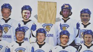 Suomen joukkueen mainosjuliste.