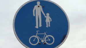 Pyörätien ja kävelytien-merkki