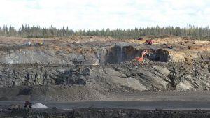Talvivaaran kaivos syyskuussa 2009.