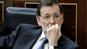 Pääministeri Mariano Rajoy hallituksen kyselytunnilla Madridissa 11. huhtikuuta 2012.