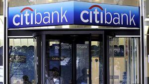Citibankin konttorin sisäänkäynti New Yorkissa