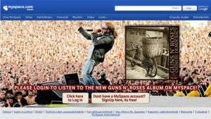 Guns n' Rosesin uusi albumi MySpacessa