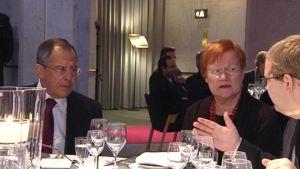 Tarja Halonen  ja Sergei Lavrov