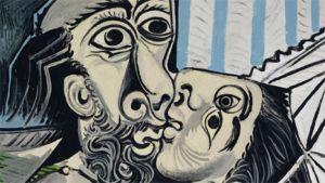 Pablo Picasso, Le baiser (Suudelma), 1969, Oil on canvas (97 x 130 cm