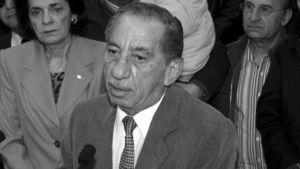 Tassos Papadopoulos äänestettyään helmikuisissa presidentinvaaleissa.