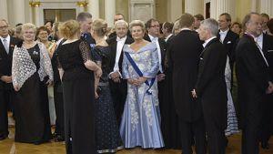 Presidentin itsenäisyyspäivän vastaanoton vieraita vuonna 2007.