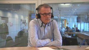 Ulvilan uusi kaupunginjohtaja Jukka Moilanen Yle Satakunnan studiossa.
