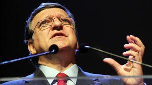 Euroopan unionin komission puheenjohtaja José Manuel Barroso puhui Brysselissä 29. toukokuuta.