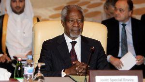 YK:n ja Arabiliiton erikoislähettiläs Kofi Annan arabimaiden Syyrian kriisiä käsittelevän ministerikomitean kokouksessa.