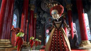 Helena Bonham Carter Herttakuningatterena elokuvassa Liisa Ihmemaassa
