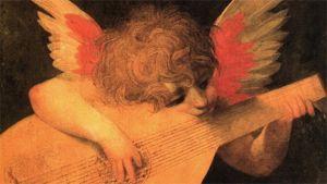 Luuttua soittava enkeli Rosso Fiorentinon maalauksessa