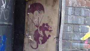 Banksyn graffiti Melbournessa