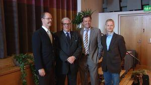 Uljas Pulkkis, Lasse Lehtinen, Jyrki Anttila ja Kurt Kopecky.