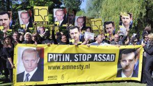 Amnesty Internationalin järjestämä mielenosoitus Venäjän suurlähetystön edustalla Haagissa 14.6.2012.
