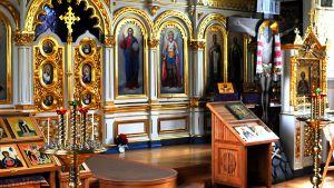 Ortodoksisen kirkon alttari.