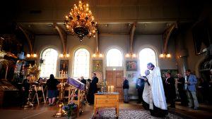 Ortodoksinen jumalanpalvelus.
