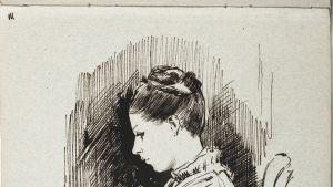 Albert Edefeltin luonnos 1880-luvulta.