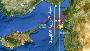 Syyrialaisen uutistoimisto Arab News Agencyn julkaisema kartta, joka kuvaa alasammutun turkkilaiskoneen lentoreittiä.