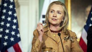 Yhdysvaltain ulkoministeri Hillary Clinton