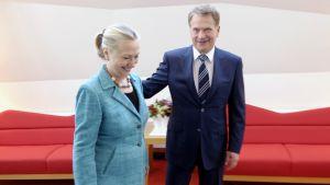 Yhdysvaltain ulkoministeri Hillary Clinton ja presidentti Sauli Niinistö tapaavat Mäntyniemessä.