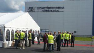 CanPackin tehtaan avajaiset Hämeenlinnassa 27.6.2012.