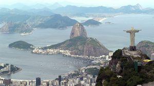Yleisnäkymä Rio de Janeiroon.