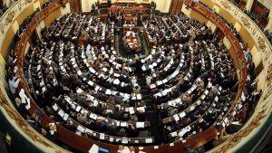 Egyptin parlamentti koolla maaliskuussa 2012.