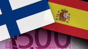 Suomen ja Espanjan lippu