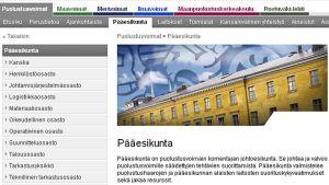 Puolustusvoimien pääesikunnan nettisivu.