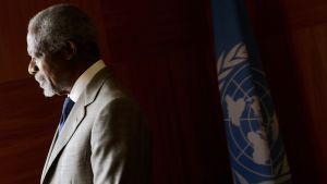 Kofi Annan kuvattuna YK:n toimistolla Genevessä heinäkuussa 2012.