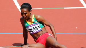Genzebe_Dibaba loukkaantui olympialaisissa