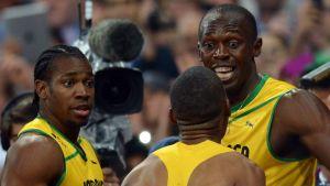 Usain Bolt Yohan Blake Warren Weir