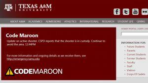 Texas A&M -yliopiston nettisivut.
