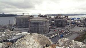 Kaasutuotantoa Norjan Hammerfestissa