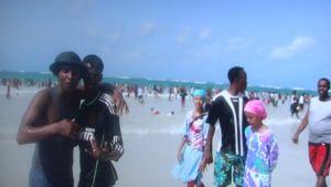 Mogadishun rannalla Somaliassa.