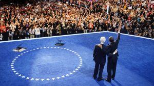 Yhdysvaltain entinen presidentti Bill Clinton on innostanut demokraattipuolueen puoluekokousväkeä presidentti Barack Obamalle pitämällään tukipuheella, joka myös televisioitiin miljoonille katsojille.