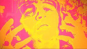Yksityiskohta Robert Whitakerin Beatles-julisteesta 1960-luvun alusta.
