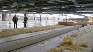 Tukeva-työvalmennussäätiön rakenteilla olevat tilat vanhassa Turo Tailorin tehtaassa.