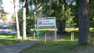 Polvijärven virastotalon kyltti