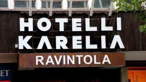 Hotelli Karelian kyltti