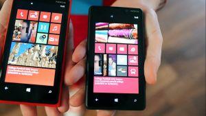 Nokian Lumia 920 - ja 820 -älypuhelin.