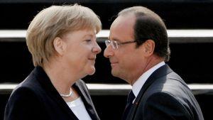 Angela Merkel ja Francois Hollande juhlistavat  Charles de Gaullen rauhanpuheen 50-vuotispäivää Saksassa.