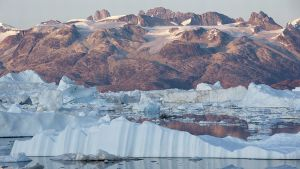 Melting ice in Greenland.
