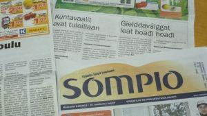 Saamenkielinen juttu Sompio-lehdessä