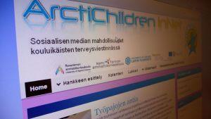 ArctiChildren In NET -hankkeen nettisivut