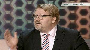 Johan Bäckman venäläisen NTV-kanavan keskusteluohjelmassa.