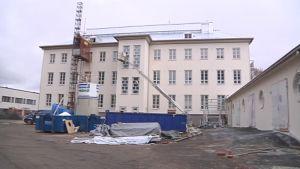 Mankolan yhtenäiskoulun rakennustyöt.