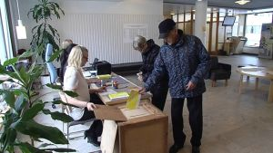 Advance voting in Rovaniemi