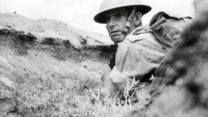 Sotilas El Alameinin taistelussa.
