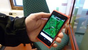 Jungle race -kännykkäpeli on suunniteltu ihmisten liikuttajaksi.